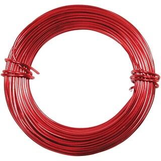 Petite Aluminum Wire 18 Gauge 39' Coil-Red