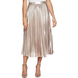 1.State Womens Midi Skirt Metallic A-Line