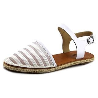Lucky Brand Romonia2 Round Toe Leather Slingback Sandal