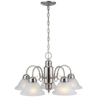 Design House 511535 Millbridge Traditional / Classic 5 Light Down Lighting 1 Tier Chandelier with Alabaster Glass