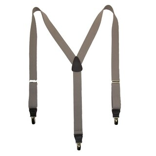 CTM® Men's Elastic Clip End Premium Solid Suspenders - One Size