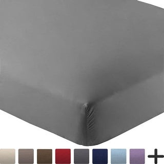 Bare Home 5-Pack Soft Microfiber Fitted Bottom Sheets, Deep Pocket