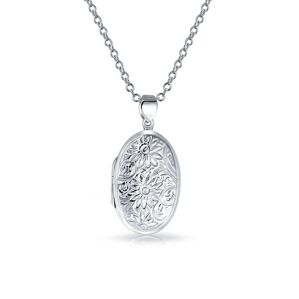 925 Sterling Silver Round Personalised Pendant on 18 Inch Chain Engravable