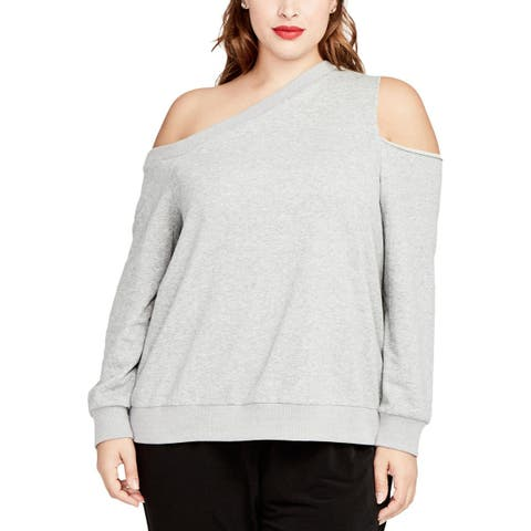 Rachel Rachel Roy Womens Pullover Sweater Asymmetric Cold Shoulder