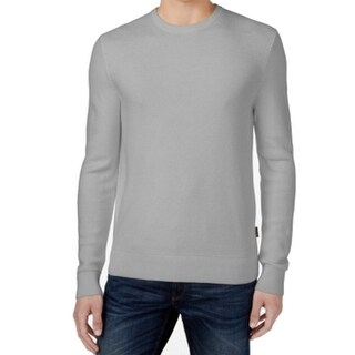 Michael Kors NEW Gray Mens Size Medium M Ribbed Crewneck Wool Sweater