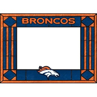 Denver Broncos Art Glass Horizontal Frame