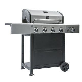 Link to Kenmore 4 Burner plus Side Burner with Stainless Steel Lid Grill Similar Items in Patio Furniture