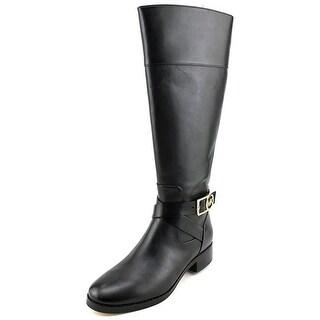 Michael Michael Kors Bryce Tall Boot Women Leather Black Knee High Boot