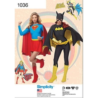 Simplicity Misses' Supergirl And Batgirl Costumes-14-16-18-20-22