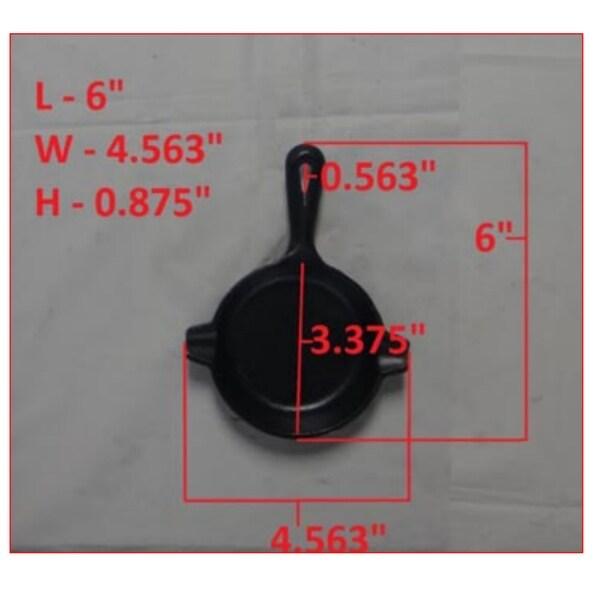 "Lodge LAT3 Cast Iron Spoon Rest, 3.5"", Black"