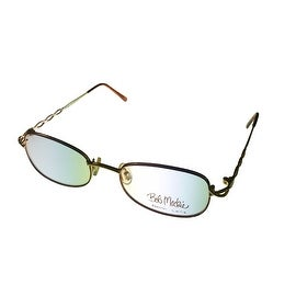 Bob Mackie Womens Opthalmic Eyeglass Rectangle Metal BM 111 Gold Tortoise