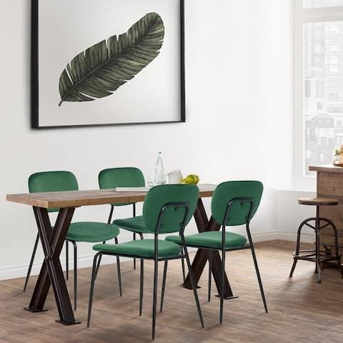 Homylin Modern Velvet Dining Chair Set of 4