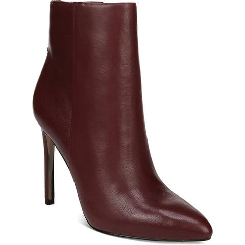 Sam Edelman Womens Ankle Boots Leather Solid - Cabernet Leather - 11 Medium (B,M)