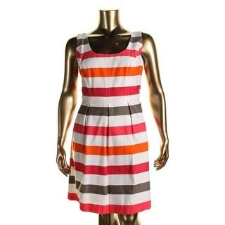 Nine West Womens Petites Striped Sleeveless Casual Dress - 8P
