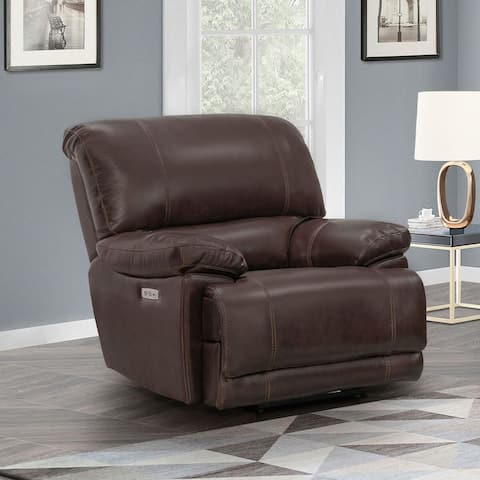 Sorrento Power Leather Recliner, Brown