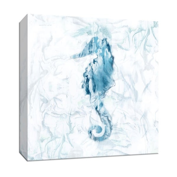 """PTM Images 9-147934 PTM Canvas Collection 12"""" x 12"""" - """"Blue Marble Seahorse"""" Giclee Sea Animals Art Print on Canvas"""