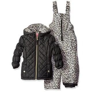 Pink Platinum Girls 4-6X Cheetah Snowsuit