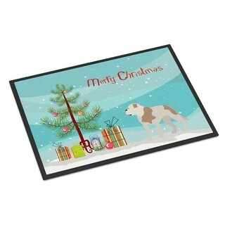 Carolines Treasures BB8510MAT American Bulldog Christmas Indoor or Outdoor Mat - 18 x 27 in.