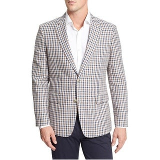 Canali Exclusive Silk and Cashmere Checker Sportcoat 42 Regular 42R