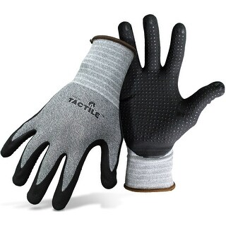 Boss 8445M Tactile Dotted Dipped Nitrile Palm & Fingers Gloves, Medium