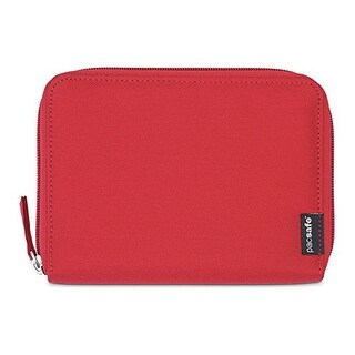 Pacsafe RFIDsafe LX150-Chili RFID Blocking Zippered Passport Wallet w/ Note Slot