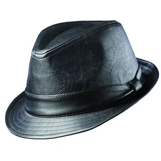 Dorfman Pacific Men's Teardrop Shape 1.5 Inch Brim Fedora Hat