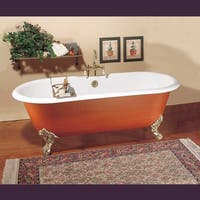 Primed Black Cast Iron Clawfoot Tub FEET NOT INCLUDED Fits Two