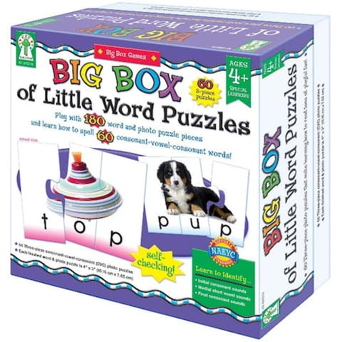 Key Education 180-Piece Big Box of Little Word Puzzles