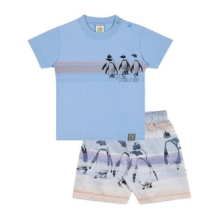 Baby Boy Outfit T-Shirt and Shorts Pulla Bulla Sizes 3-12 Months