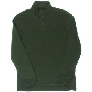 John Ashford Mens Mock Neck Knit 1/2 Zip Sweater
