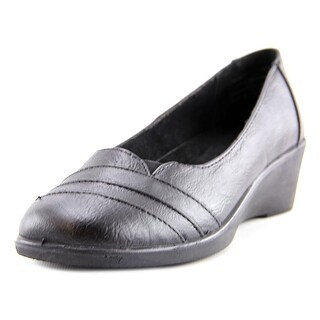 Easy Street Marsh Women N/S Open Toe Synthetic Black Wedge Heel