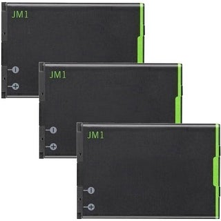 Replacement Battery JM1 for Blackberry Bold 9790 / P9981 Phone Models (3 Pk)