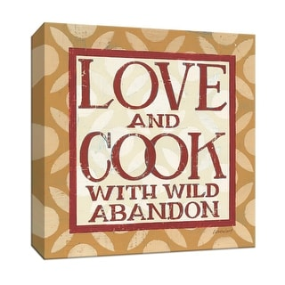 """PTM Images 9-152198  PTM Canvas Collection 12"""" x 12"""" - """"Love and Cook"""" Giclee Sayings & Quotes Textual Art Print on Canvas"""