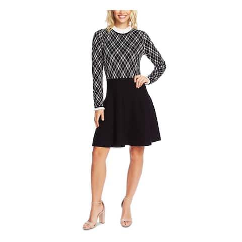 CECE Black Long Sleeve Above The Knee Dress XL