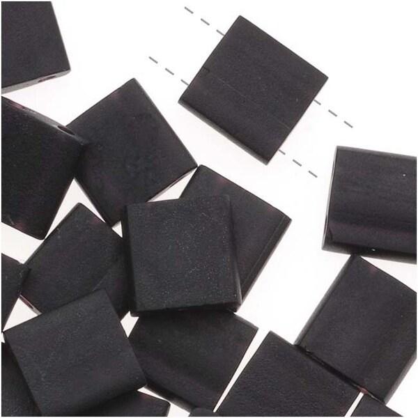 Miyuki Tila 2 Hole Square Beads Matte Black 7.2Gr
