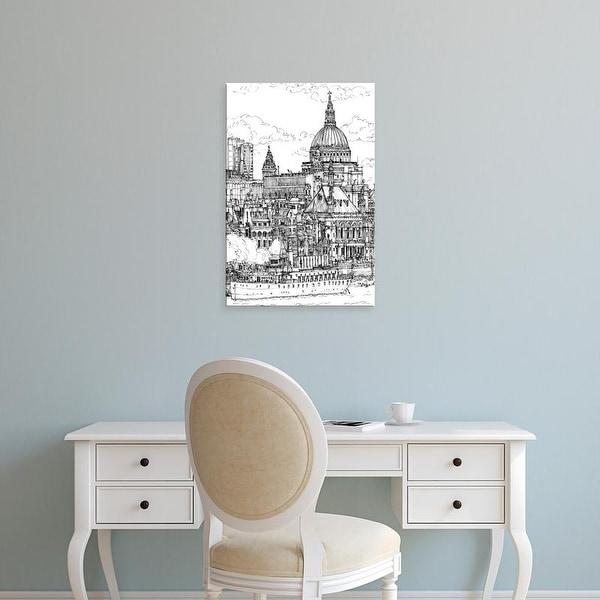 Easy Art Prints Melissa Wang's 'B&W City Scene X' Premium Canvas Art