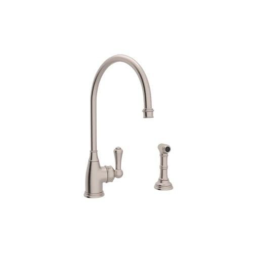 Rohl U 4702 2 Perrin And Rowe Kitchen Faucet With Side Spray Metal