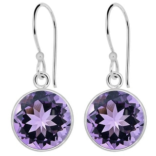 Link to Amethyst Sterling Silver Round Dangle Earrings by Orchid Jewelry Similar Items in Earrings