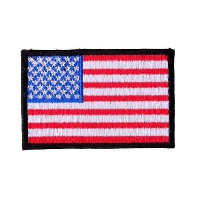 US FLAG Embroidered Iron On Motorcycle Biker Vest Patch P64