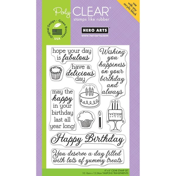 "Hero Arts Clear Stamps 4""X6""-Yummy Treats"