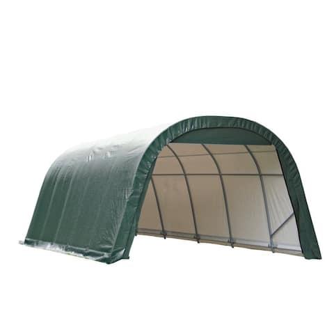 Shelterlogic Outdoor Round Garage Boat/ Car Green 14 x 12 x 28-foot Storage Shed