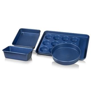 Link to Granitestone Blue Non Stick 5pc Complete Bakeware Set-Dishwasher Safe Similar Items in Bakeware
