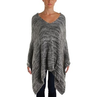 Nic + Zoe Womens Knit Marled Poncho Sweater - o/s