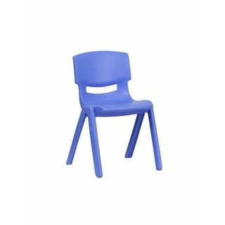 Offex Blue Plastic Stackable School Chair with 13.25'' Seat Height [OF-YU-YCX-004-BLUE-GG]