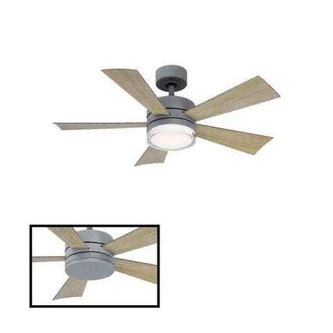 Wynd 42-inch 5-blade Indoor/ Outdoor Smart Ceiling Fan with LED Light