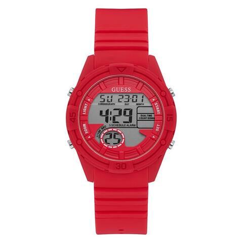 Guess Women's Bounce U1281L3 Red Silicone Quartz Fashion Watch - Multi