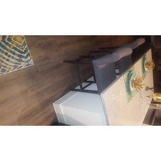 Oliver Amp James Cosmopolitan Smoke Linen Counter Stool Set