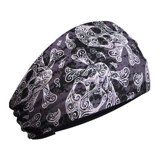 That's A Wrap Women's Swirly Skulls & Crossbones Knotty Band Headwrap, KB2815 - One Size Fits most