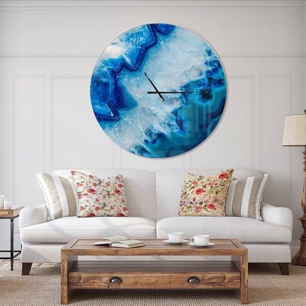 Designart Geode Slice Macro Oversized Modern Wall Clock On Sale Overstock 23534809