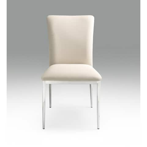 Dining Leatherette Side Chair Set Of 2 Pieces